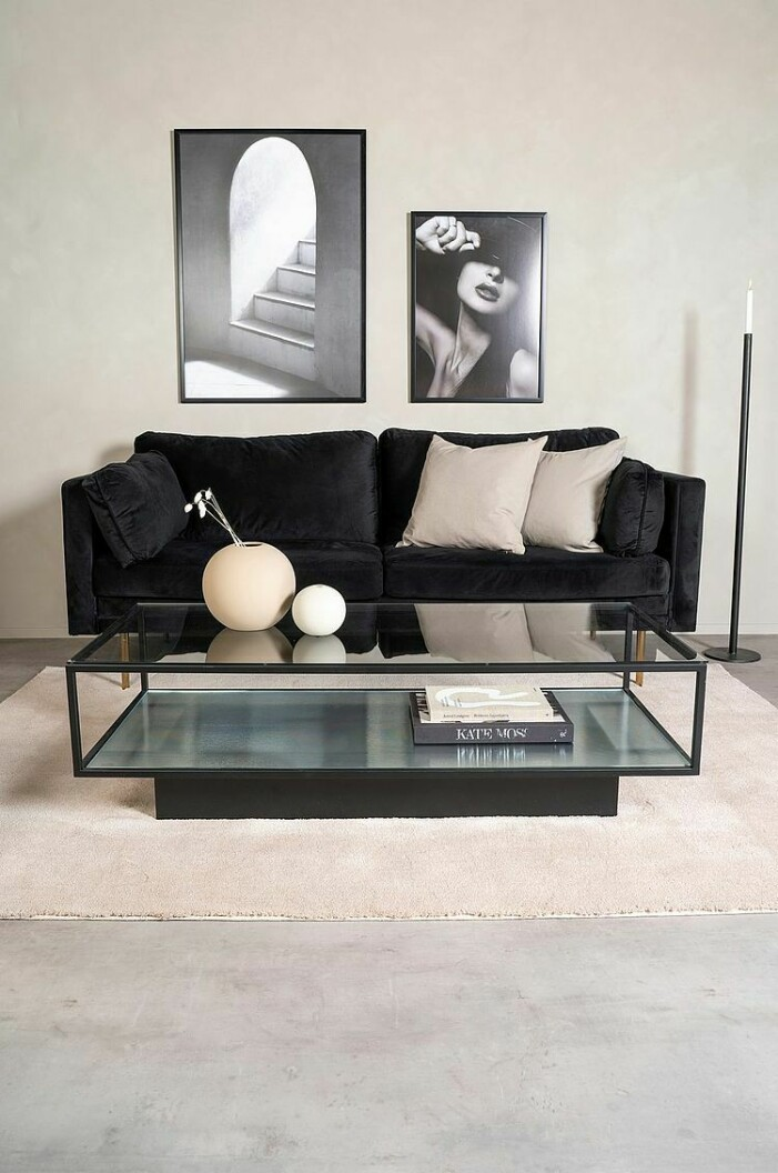 fyrkantigt glasbord soffbord