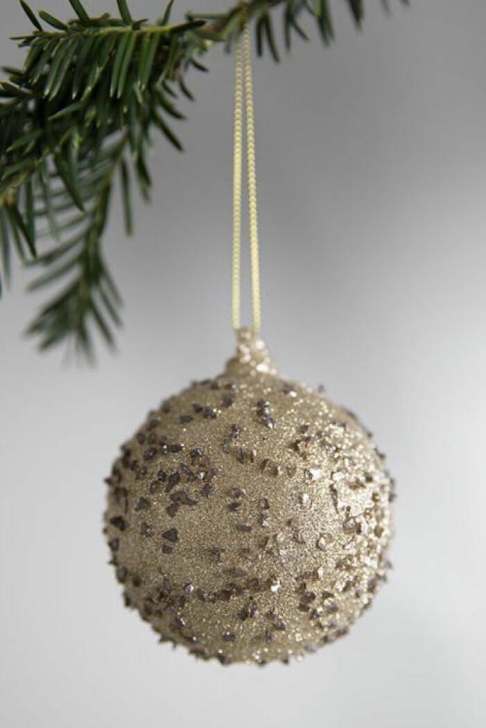 Glittrig julkula i guld, Oscar & Clothilde