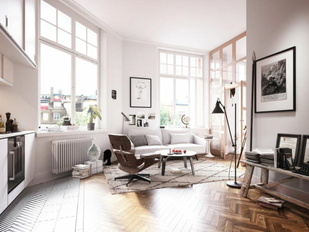 Totalt skapas ett tjugotal lägenheter som karaktäriseras av elegans, stora fönsterpartier och högt i tak.