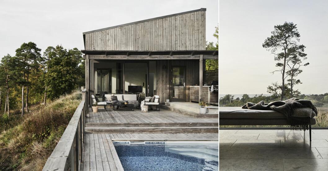 Sea Ranch-inspirerat hus på Gotland