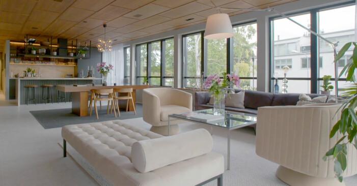 Vardagsrum i villan på Lidingö ur Grand Designs Sverige, säsong 1.