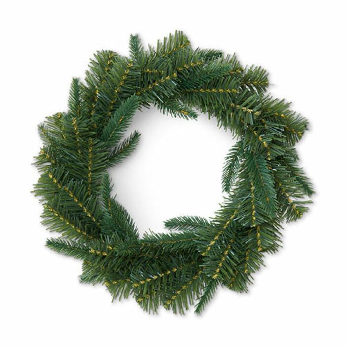 Grön julkrans från Åhléns