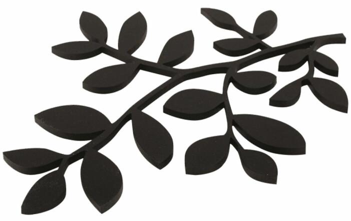 annorlunda grytunderlägg i form av blad