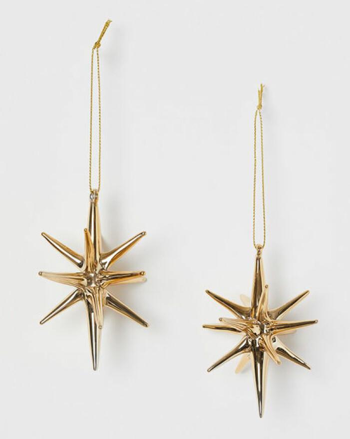 Guldiga juldekorationer i forma av stjärnor, H&M Home