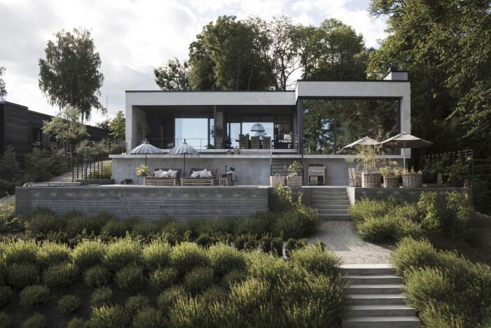 Tomt med höjdskillnad och trädgård av trädgårdsarkitekten Anna Lindkvist