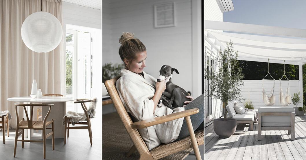 Kök och altan hemma hos stylisten Pella Hedeby