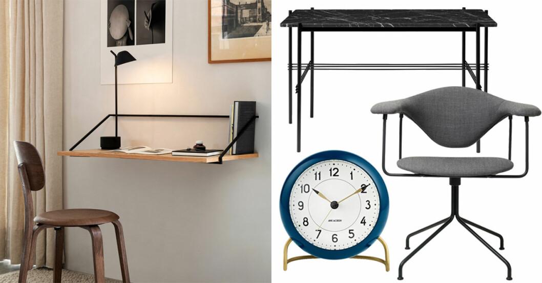 hemmakontor möbler och detaljer