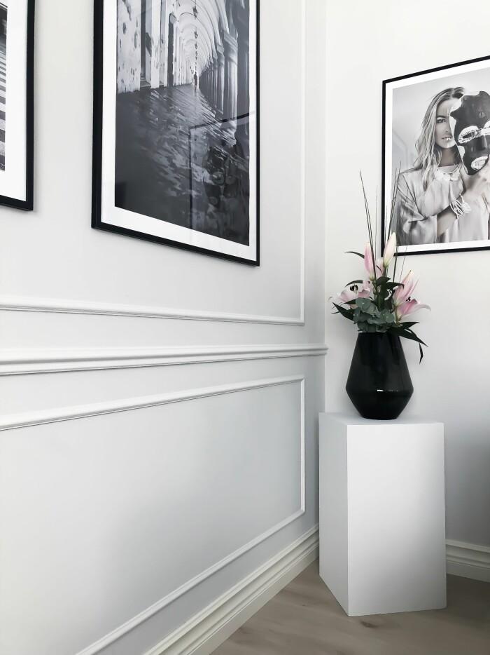 lister och rutor på vägg
