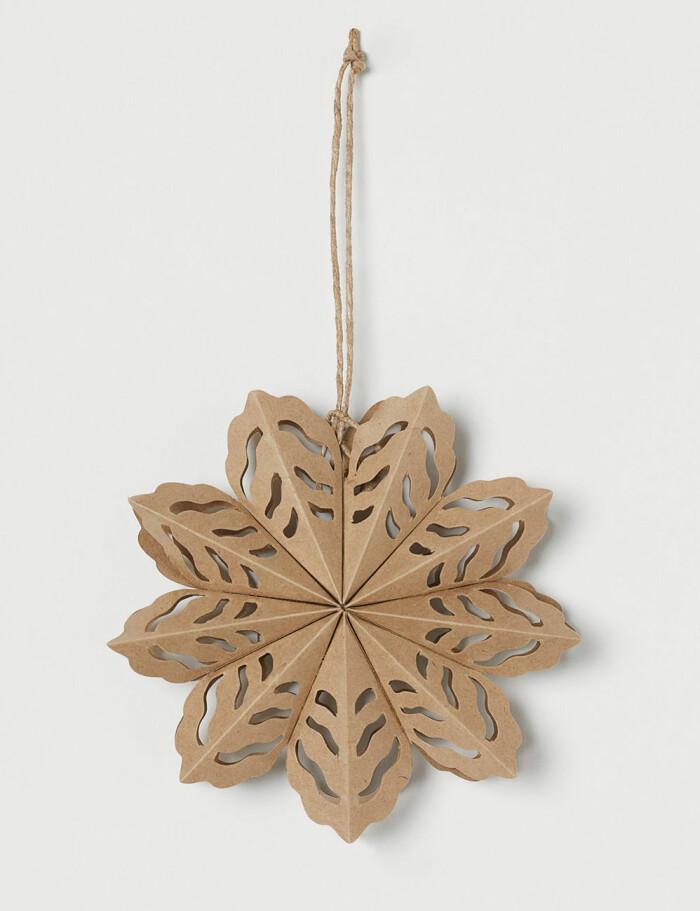 pappersstjärna med hänge från H&M Home