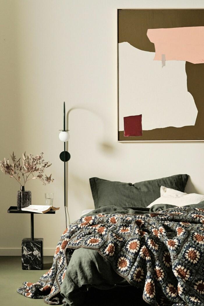 Höstens inredningstrender 2021, gröna sängkläder
