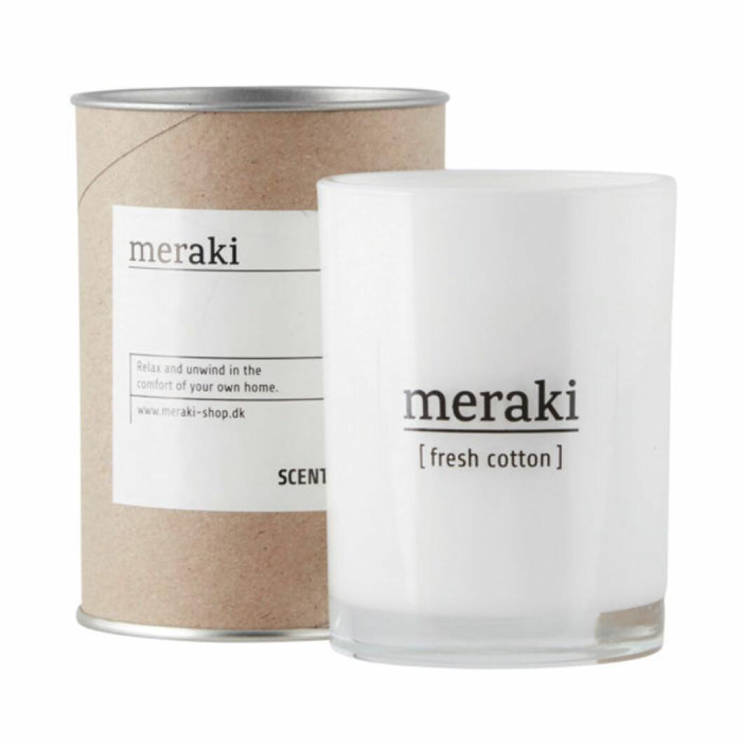 Skapa hotellkänsla i badrummet – med ett doftljus från Meraki