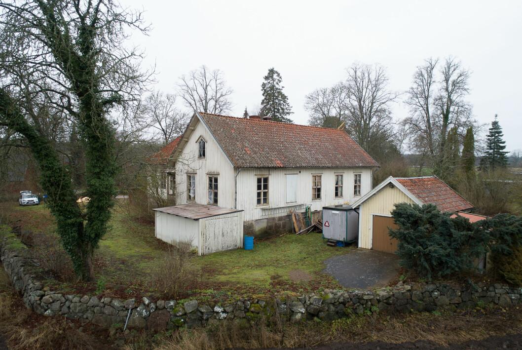 Huset innan renovering.