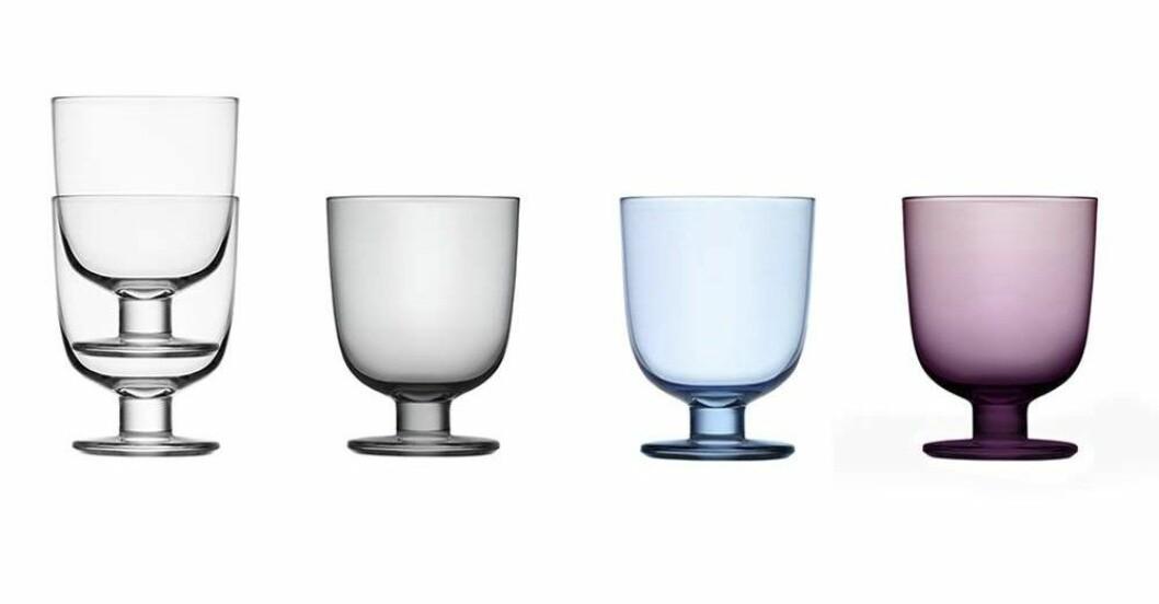 Lempi-glas i olika färger