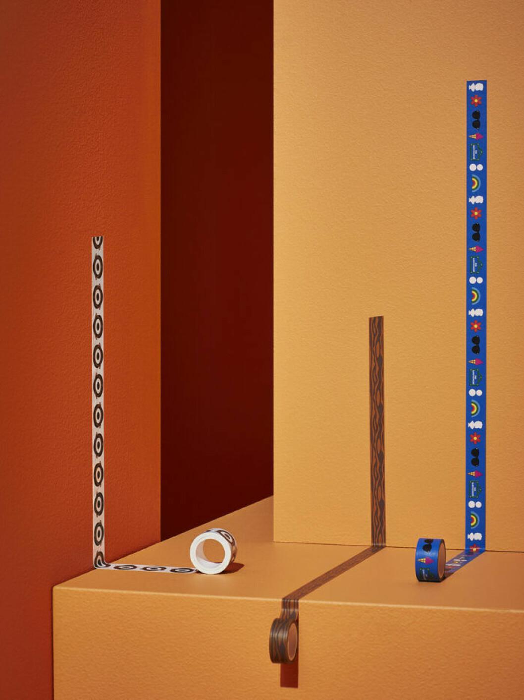 Mönstrad tejp från Ikeas limiterade kollektion Förnyad