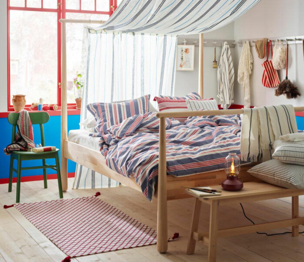 Ikea smalstarka påslakan i säng