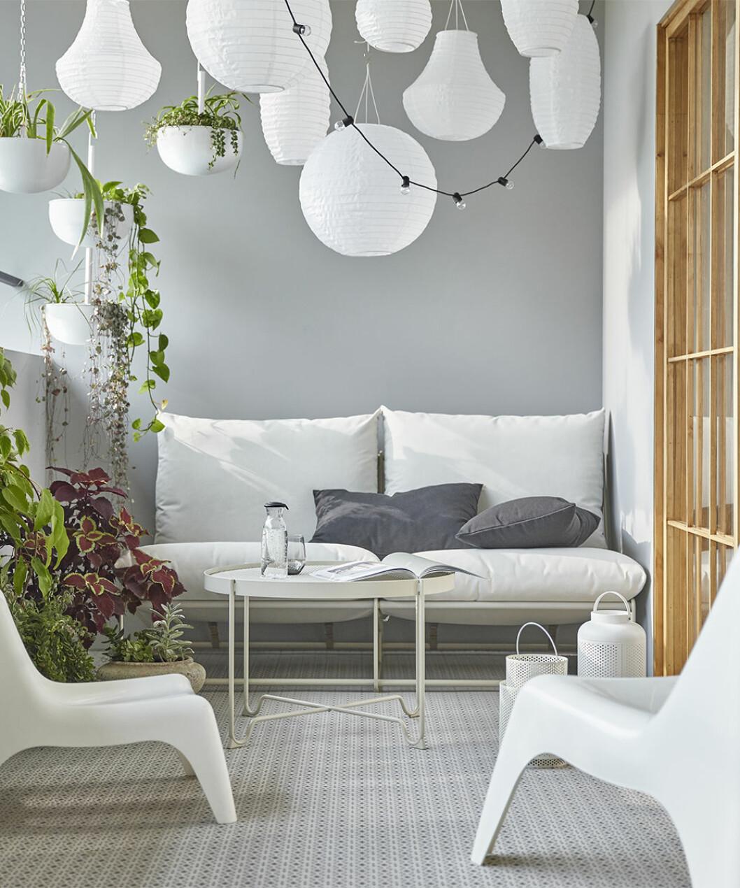 Uteplats med inredning från Ikea
