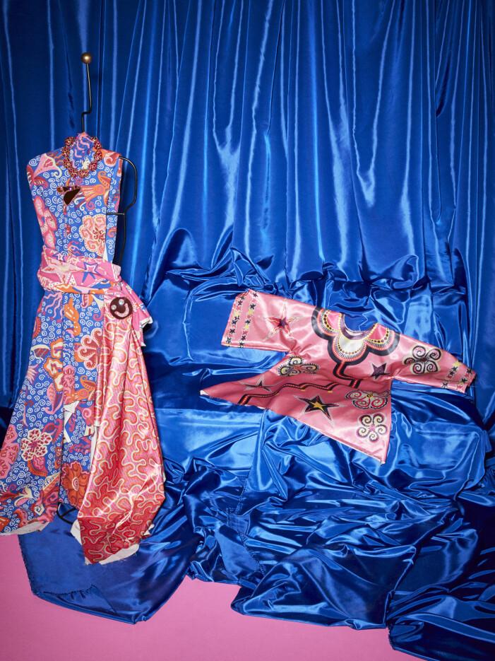 Ikea Zandra Rhodes Karismatisk kollektion, mönstrade klänningar