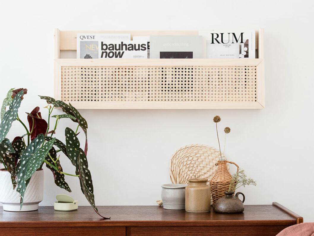 DIY-projekt magasinshållare i rotting