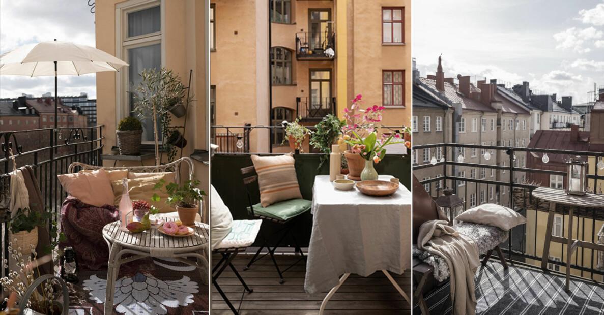 Snabba och enkla balkonghacks som skapar stilkänsla