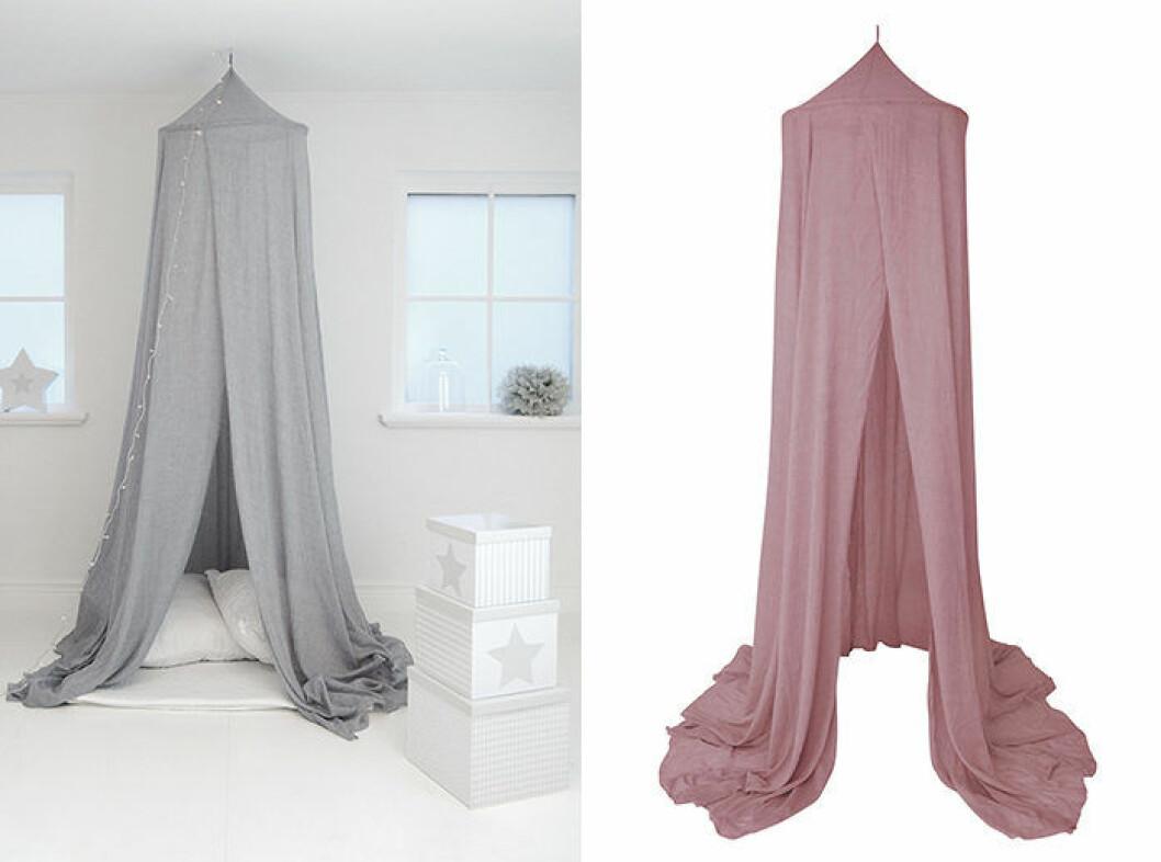 Sänghimmel i grått, rosa eller vitt från Jabadabado