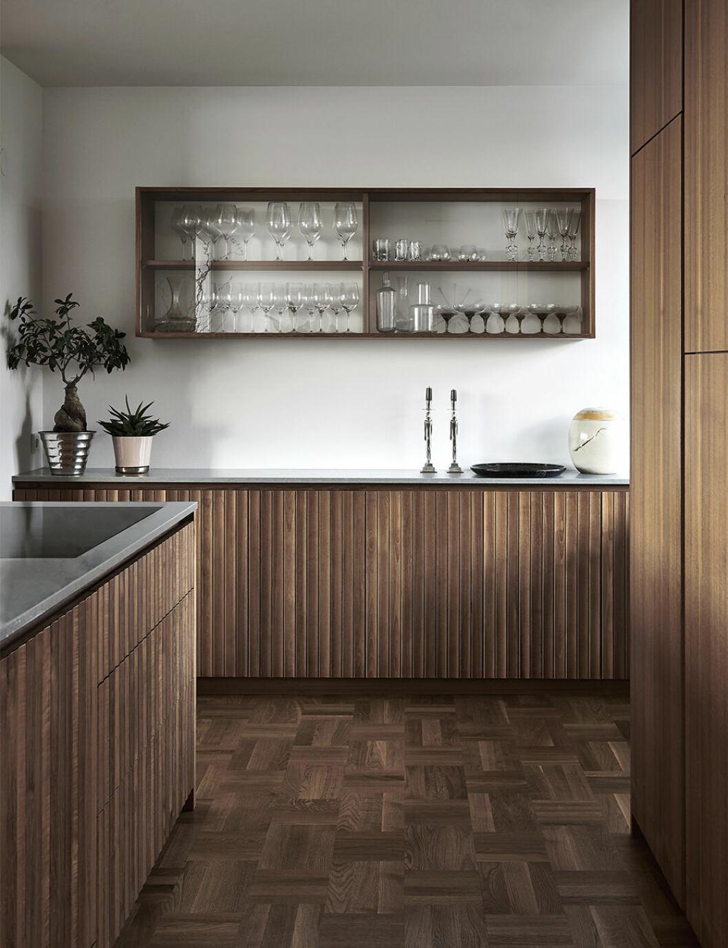 Joanna Lavéns kök i hemmet på Lidingö