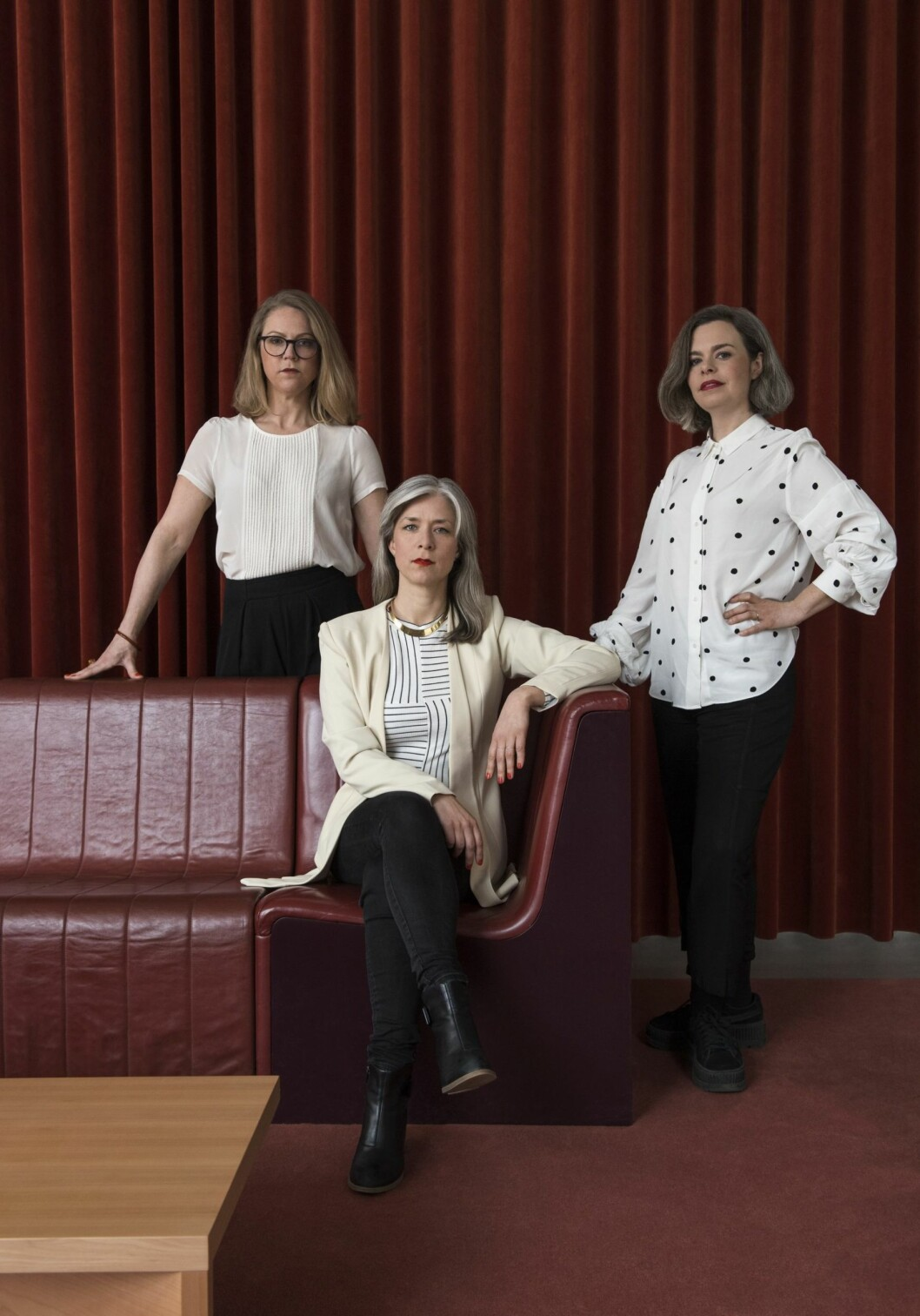 Joyns Helena Eliason, Ida Wanler och Lisa Grape.