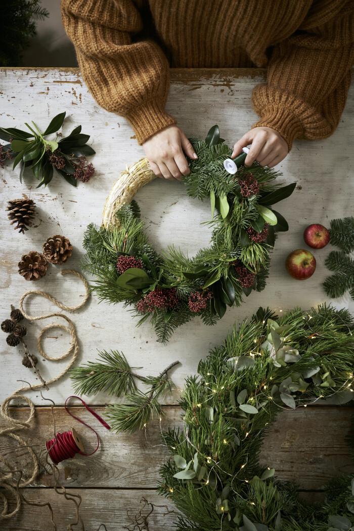DIY-julkransar är populära i år