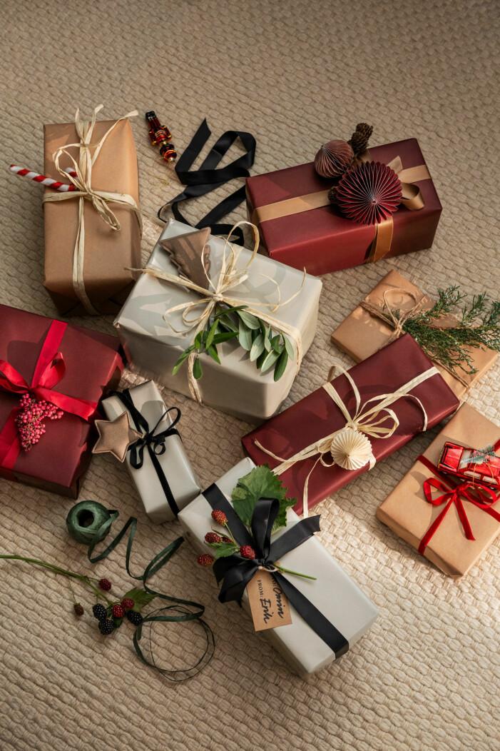 Julen på H&M Home 2021, inslagspapper