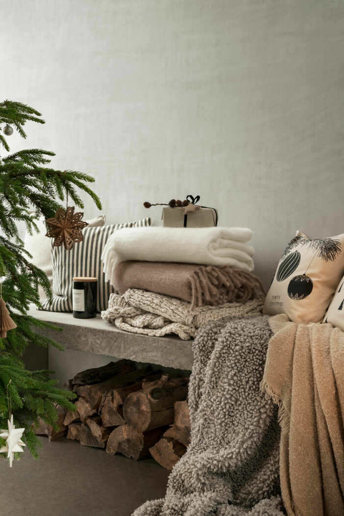 Julen på H&M Home 2021, mysiga textilier