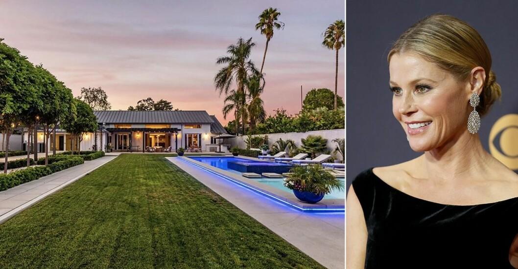 Kika in i skådespelerskan Julie Bowens nya lyxvilla i Los Angeles.