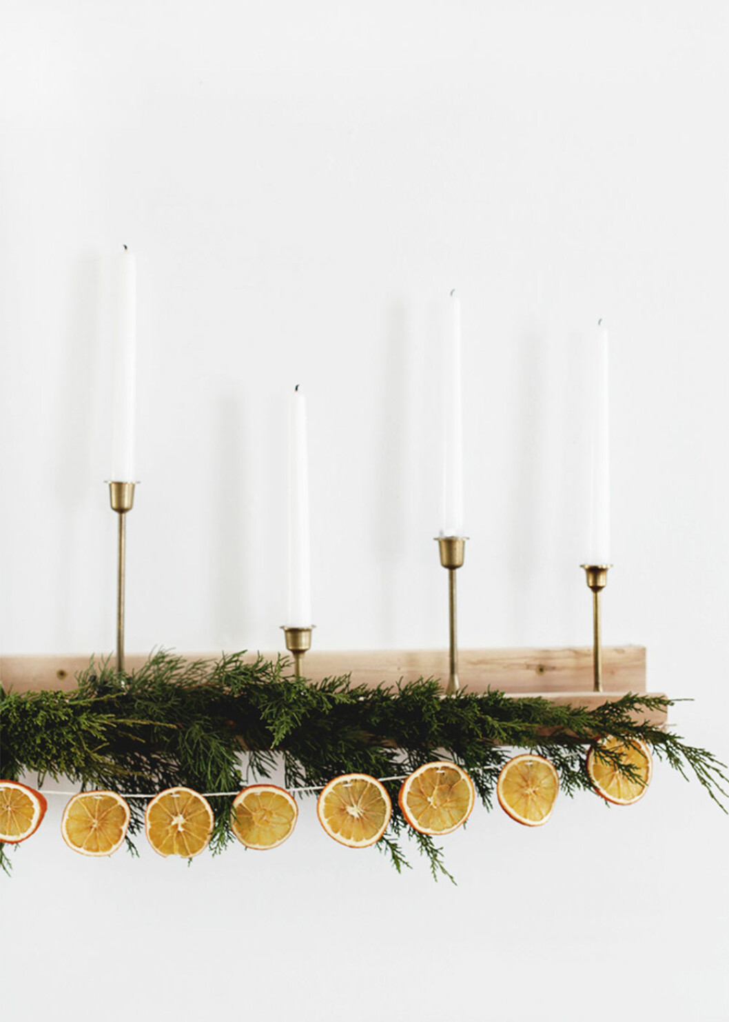 Enkelt DIY julpynt med apelsinskivor