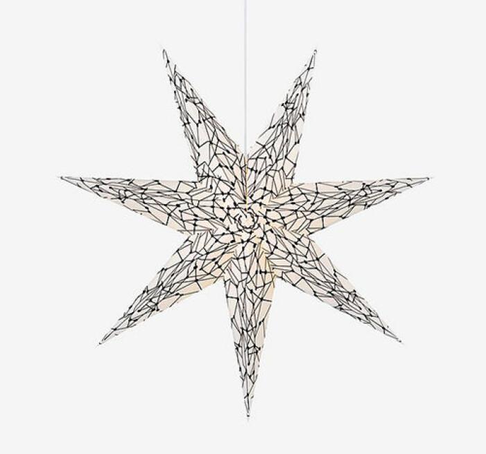 Mönstrad julstjärna från Markslöjd