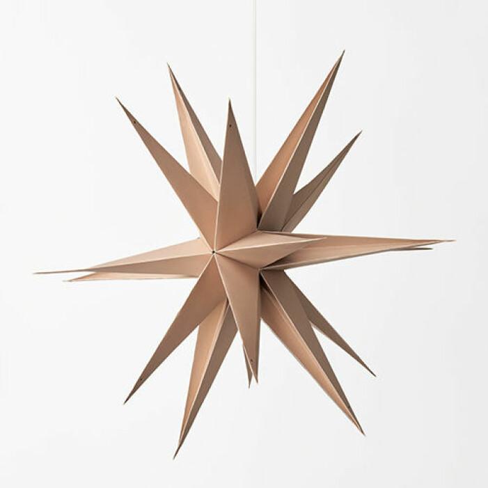 Julstjärna i naturfärg från Åhléns