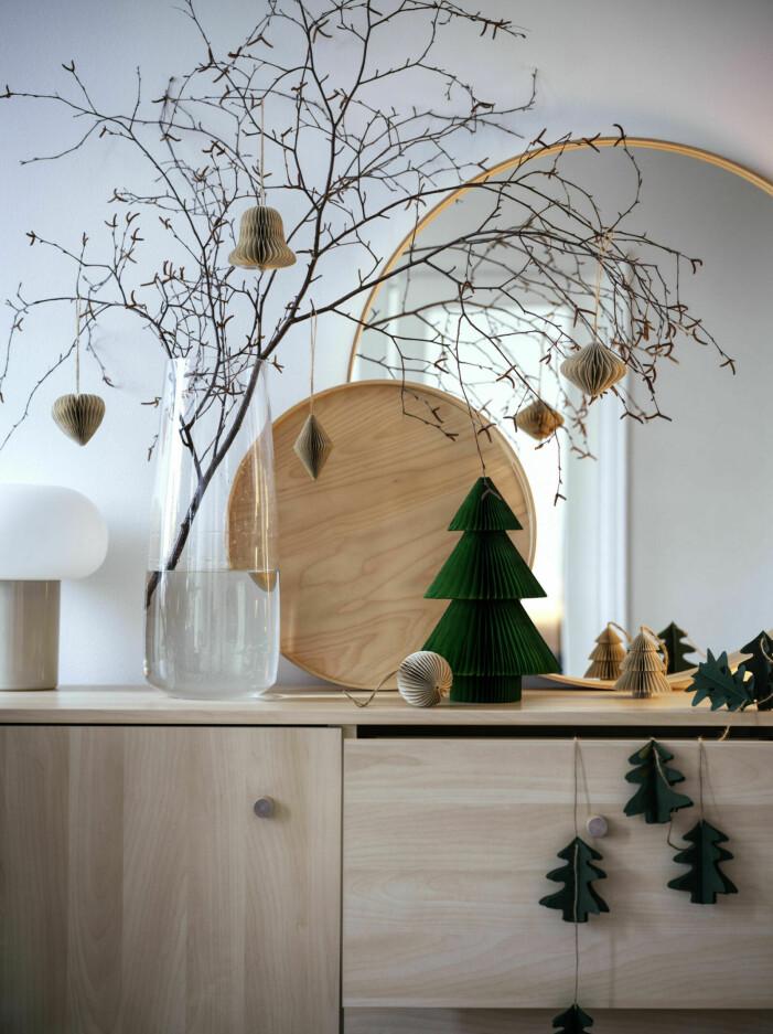 Jultrender 2021, beige och grönt