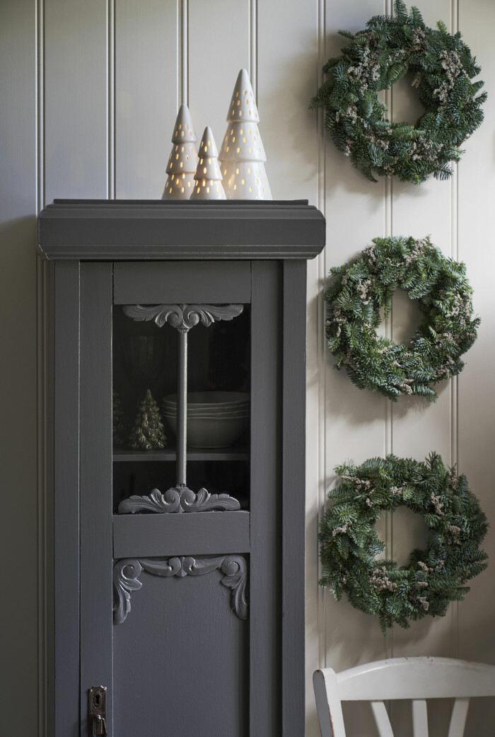 Klassiska gröna kransar till jul