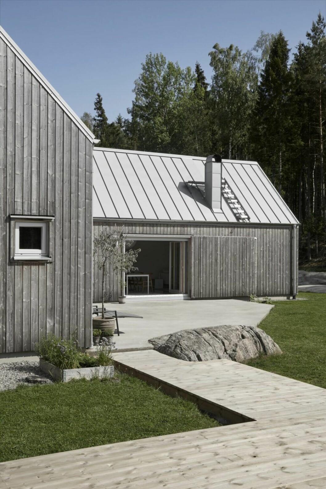 Trädäck hemma hos Karin Boo Wiklander