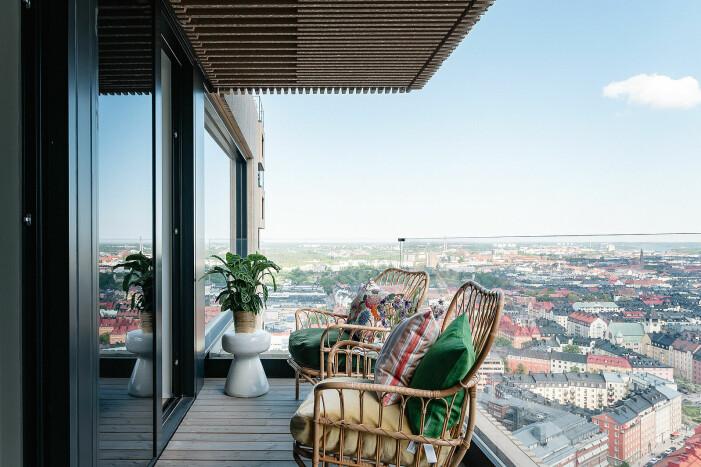 Penthouse till salu i Norra tornen, balkong