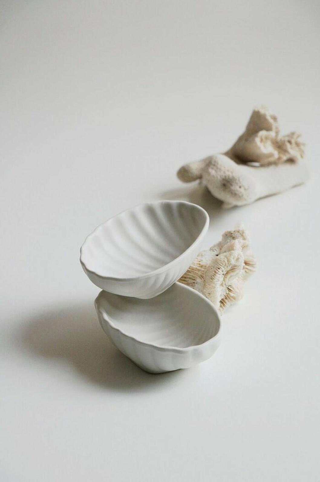 Trendiga snäckformade skålar