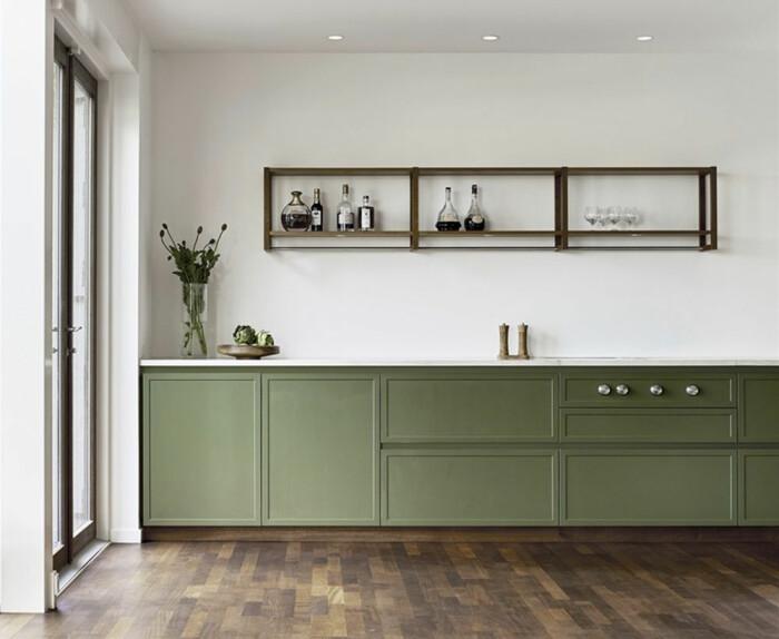 Kvänum Atelier kök i grönt
