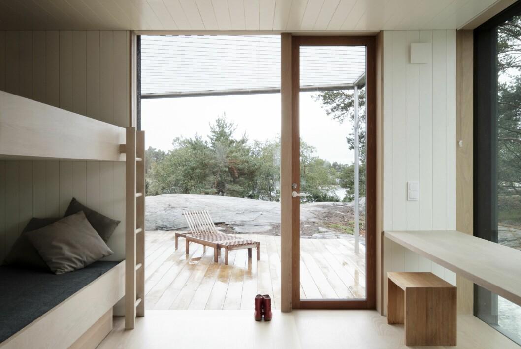 Sovrum i studentritade huset Villa Furuholmen.