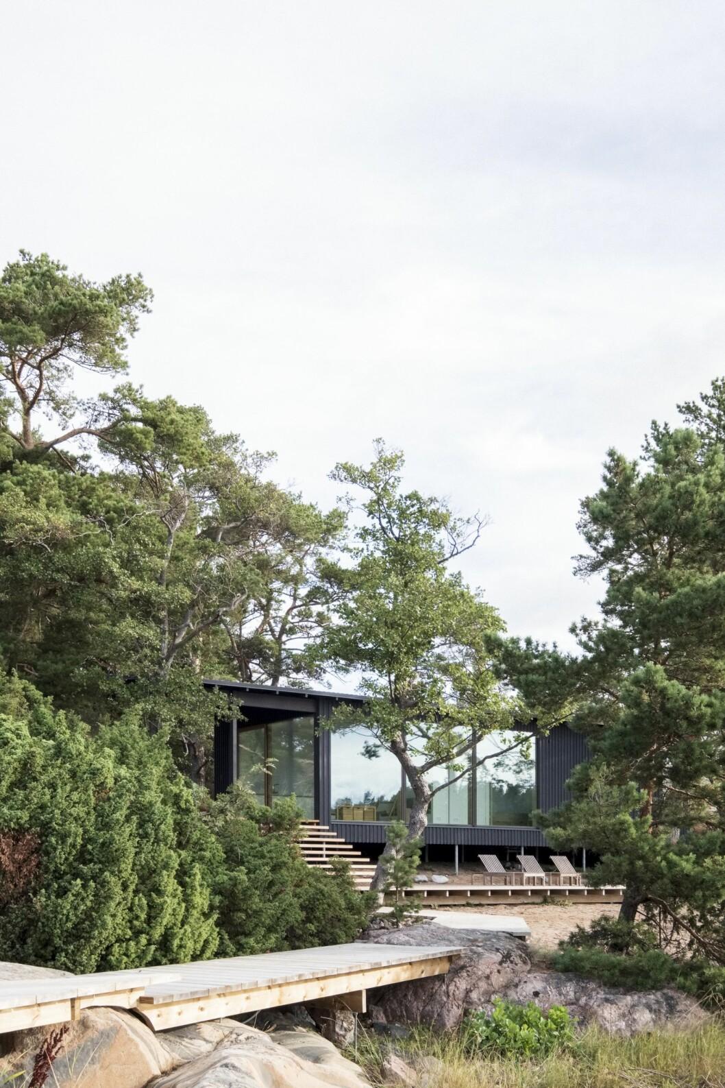 Villa Furuholmens strandhus.