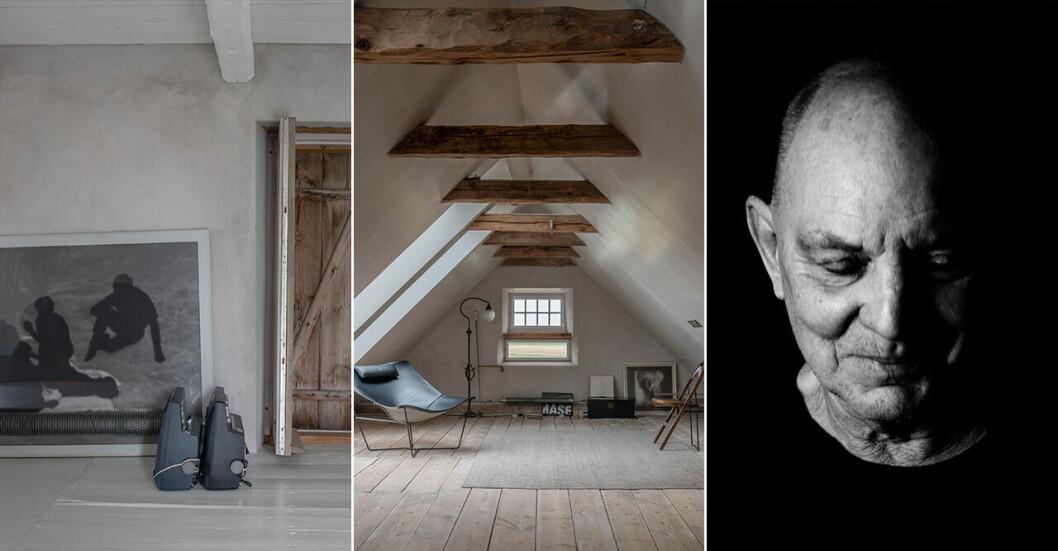 Bilder tagna av Mikael Olsson från Lars Noréns sommarhus på Gotland. Porträtt av dramatikern Lars Norén.