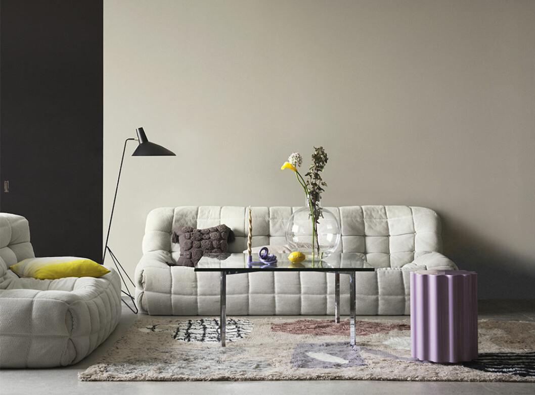 Lavendel och gult är trendfärger 2021 – här hos Nordsjö