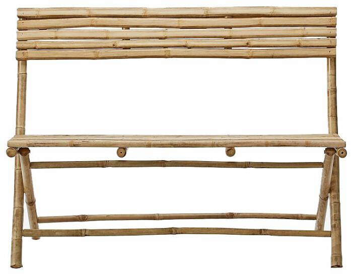 soffa till uteplats i bambu