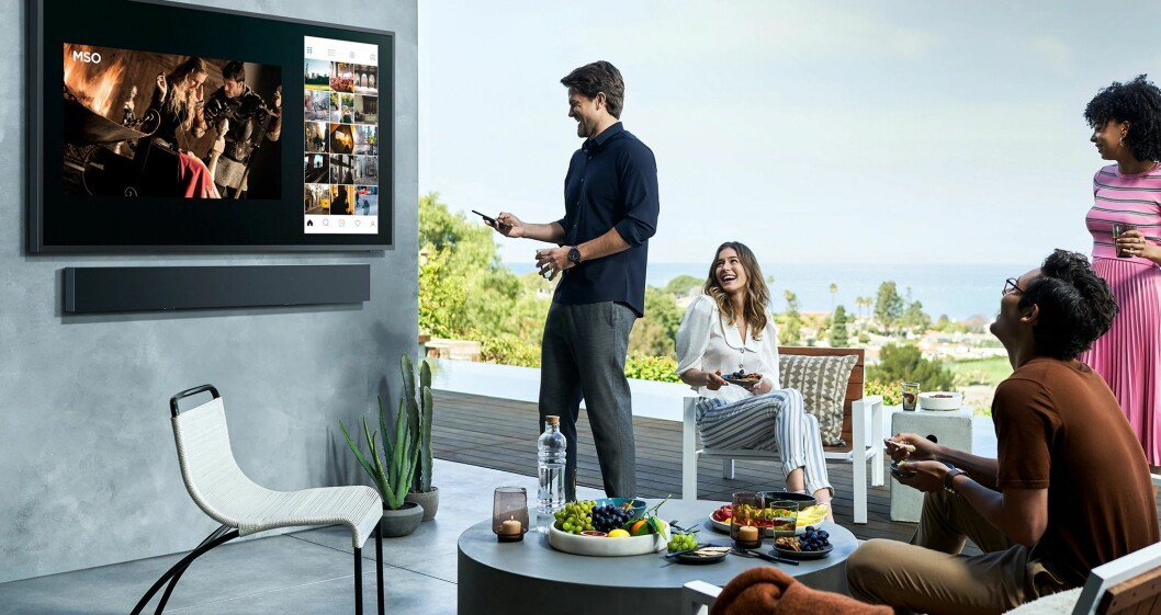 Samsung The Terrace utomhus-TV, 4K QLED-TV för utomhusbruk.