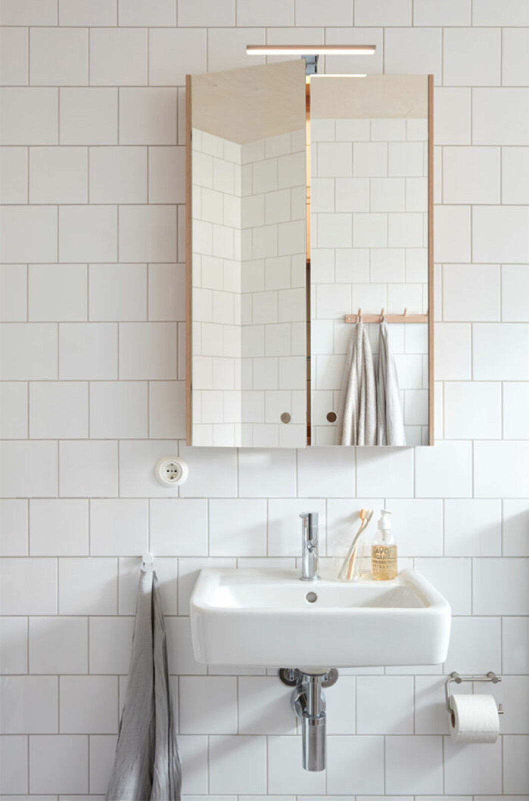 Ett litet badrum behöver bra belysning