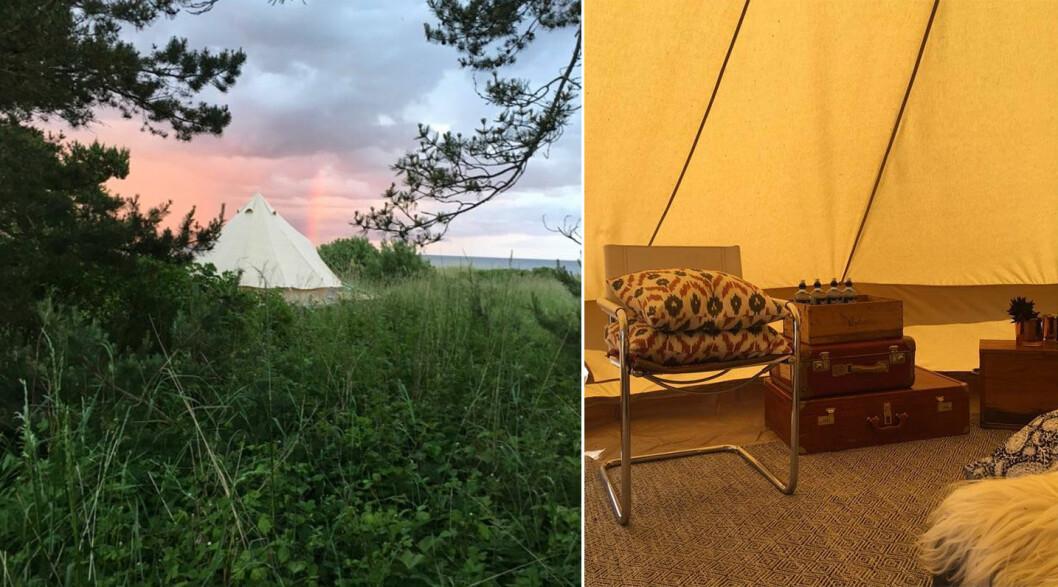 Havsängen erbjuder glamorös camping på vid Ljugarn på Gotland.