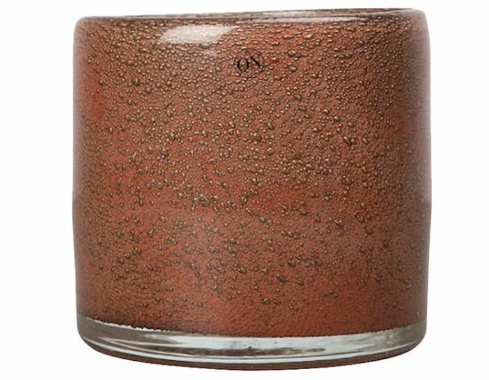 brun ljuslykta glas