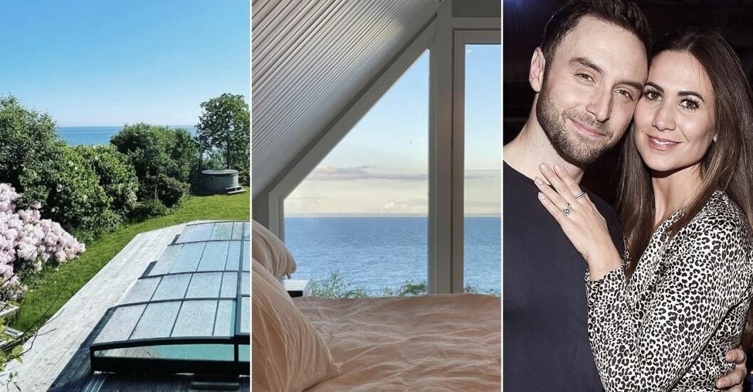 Måns och Ciara Zelmerlöw visar upp första bilderna på nya huset.