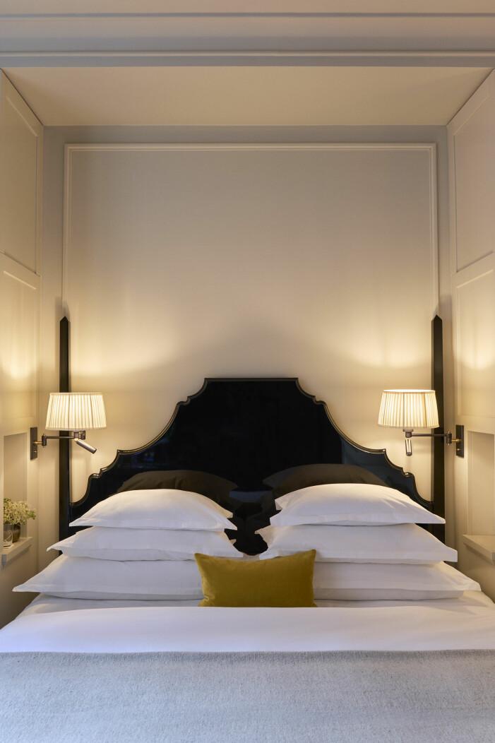 Gästrummen är individuellt designade i varma toner